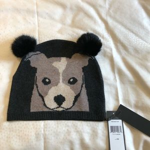 BCBG beanie with fur poms - NWT